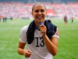 Alex Morgan of the United States celebrates the 5-2 victory against Japan in the FIFA Women's World Cup Canada 2015 Final at BC Place Stadium on July 5, 2015