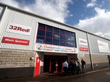 A general view of the exterior of the stadium ahead of the Sky Bet League One match between Crawley Town and Peterborough United at Broadfield Stadium on October 11, 201