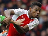 Jeff Reine Adelaide during the pre-season friendly football match between Arsenal and Wolfsburg at The Emirates Stadium in north London on July 26, 2015