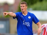 Robert Huth of Leicester City during the Pre Season Friendlly match between Lincoln City and Leicester City at Sincil Bank Stadium on July 21, 2015