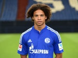Schalke's midfielder Leroy Sane poses during the team presentation of Schalke 04 on July 17, 2015