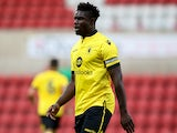 Micah Richards of Aston Villa looks on during the pre season friendly match between Swindon Town and Aston Villa at the County Ground on July 21, 2015