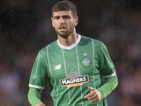 Nadir Ciftci of Celtic makes his debut at the Pre Season Friendly between Celtic and Real Sociedad at St Mirren Park on July 10th, 2015
