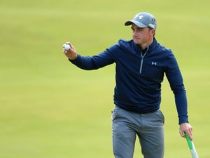 Amateur Paul Dunne of Ireland acknowledges the crowd on the 18th green during the third round of the 144th Open Championship at The Old Course on July 19, 2015