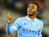 Raheem Sterling of Manchester City celebrates scoring in the International Champions Cup on July 21, 2015