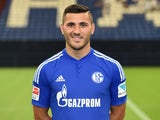 Schalke defender Sead Kolasinac poses for a team photo on July 17, 2015