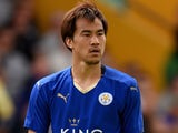 Shinji Okazaki of Leicester City during the pre season friendly match between Mansfield Town and Leicester City at the One Call Stadium on July 25, 2015