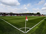 A general view of the stadium prior to the Pre Season Friendly match between Stevenage and West Ham United at The Lamex Stadium on July 12, 201