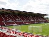 A general view of the County Ground during the Pre Season Friendly match between Swindon Town and Everton at the County Ground on July 11, 2015