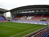 A general view of the DW Stadium during the Sky Bet Championship match between Wigan Athletic and Bolton Wanderers at the DW Stadium on December 15, 2013