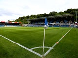 A general view of Adams Park ahead of the pre season friendly match between Wycombe Wanderers and Chelsea at Adams Park on July 16, 2014