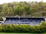 A general view of Adams Park prior to the Sky Bet League Two match between Wycombe Wanderers and Bristol Rovers at Adams Park on April 26, 2014