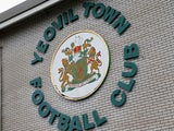 A general view of the Yeovil Town club logo during the FA Cup Third Round match between Yeovil Town and Leyton Orient at Huish Park on January 4, 2014