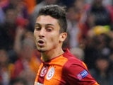 Alex Telles (L) during the UEFA Champions League Group D football match between Galatasaray and Dortmund on October 22, 2014