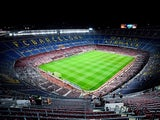 A general view of the stadium prior to the La Liga match between FC Barcelona and Celta de Vigo at Camp Nou on November 1, 2014