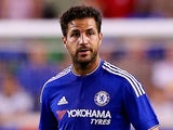 Cesc Fabregas #4 of Chelsea takes the ball in the first half against the New York Red Bulls during the International Champions Cup at Red Bull Arena on July 22, 2015