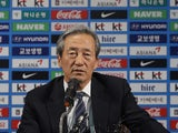 Former FIFA vice president Chung Mong-Joon speaks during a press conference on June 3, 2015