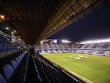 A general view of the Riazor Stadium stand and pitch before the Spanish second league football match between Deportivo de la Coruna and CE Sabadell at the Riazor Stadium on February 1, 2014