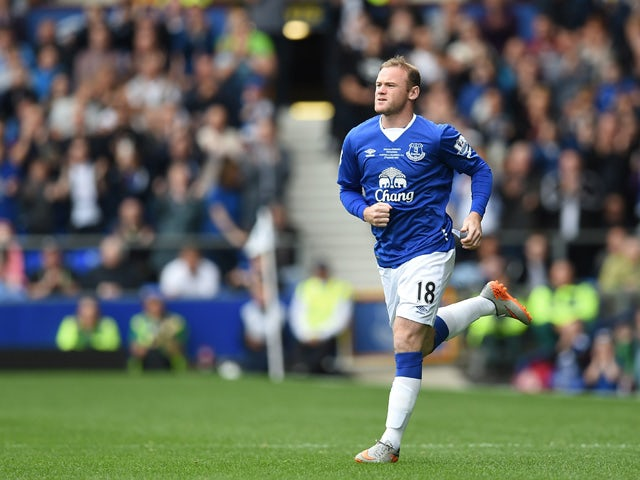 Manchester United's former Everton forward Wayne Rooney comes on during the Duncan Ferguson Testimonal pre-season friendly football match between Everton and Villarreal at Goodison Park in Liverpool, north west England on August 2, 2015