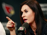 Jen Welter speaks during a press conference where she was named an intern coach for the Arizona Cardinals on July 28, 2015