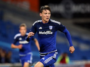 Joe Mason of Cardiff City during the pre season friendly match between Cardiff City and Watford at Cardiff City Stadium on July 28, 2015