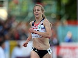 Britain's Lennie Waite competes in the women's 3000m steeplechase on day one of the European Athletics Team Championships at Gateshead Stadium in Newcastle, northeast England, on June 22, 2013