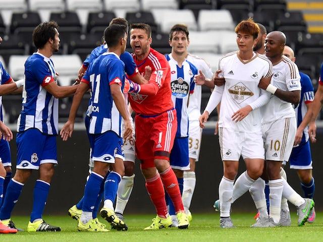 Result: Swansea City held by Deportivo La Coruna