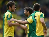 Wes Hoolahan of Norwich City celebrates his goal during the pre season friendly match between Norwich City and Brentford at Carrow Road on August 1, 2015