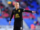 Everton player Phil Neville reacts during the Barclays Premier League game between Wigan Athletic and Everton at DW Stadium on October 6, 2012