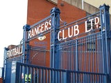 This picture shows a general view of Ibrox Stadium ahead of the Scottish League Cup match between Rangers and Inverness in Glasgow on September 16, 2014