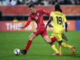 Serbia's Sergej Milinkovic (L) in action during the FIFA Under-20 World Cup football semi-final match between Serbia and Mali in Auckland on June 17, 2015