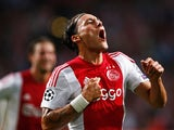 Nemanja Gudelj of Ajax celebrates scoring his teams second goal of the game during the third qualifying round 2nd leg UEFA Champions League match between Ajax Amsterdam and SK Rapid Vienna held at Amsterdam ArenA on August 4, 2015