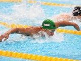 Chad le Clos of South Africa competes in the Men's 100m Butterfly heats on day fourteen of the 16th FINA World Championships at the Kazan Arena on August 7, 2015