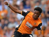 Chuba Akpom of Hull City in action during the Sky Bet Championship match between Hull City and Huddersfield Town at KC Stadium on August 8, 2015