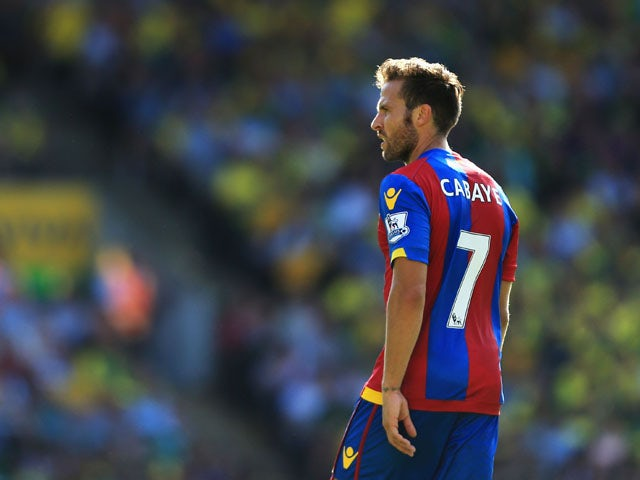 Yohan Cabaye of Crystal Palace in action during the Barclays Premier League match between Norwich City and Crystal Palace at Carrow Road on August 8, 2015