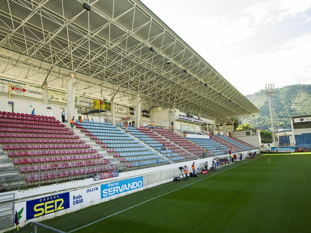 General view of Eibar Estadio Ipurua before the La Liga match between SD Eibar and Real Sociedad at Ipurua Municipal Stadium on August 24, 2014