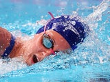 Jazz Carlin of Great Britain competes in the Women's 800m Freestyle heats on day fourteen of the 16th FINA World Championships at the Kazan Arena on August 7, 2015