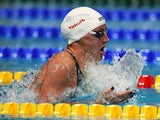 Katinka Hosszu of Hungary competes in the Women's 200m Individual Medley Final on day ten of the 16th FINA World Championships at the Kazan Arena on August 3, 2015