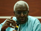 IAAF President Lamine Diack attends 2nd IAAF World Youth Coaches Conference during on July 20, 2015