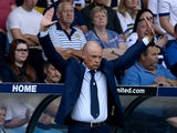 Uwe Rosler manager of Leeds United reacts during the Sky Bet Championship match between Leeds United and Burnley at Elland Road on August 8, 2015