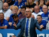 Claudio Ranreri the manager of Leicester City shouts instructions during the Barclays Premier League match between Leicester City and Sunderland at the King Power Stadium on August 8, 2015