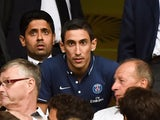 New Paris Saint-Germain's player Argentinian Angel Di Maria Hernandez attends the French L1 football match between Lille and PSG on August 7, 2015