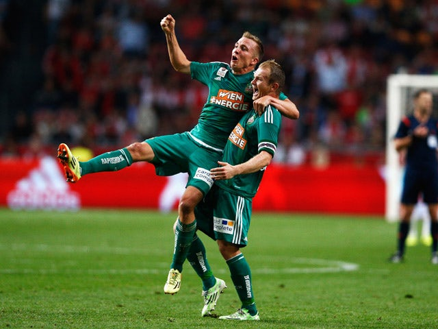 Result: Ajax knocked out by Rapid Vienna