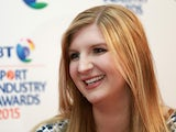 Rebecca Adlington is interviewed on the red carpet at the BT Sport Industry Awards 2015 at Battersea Evolution on April 30, 2015