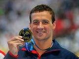 Gold medalist Ryan Lochte of the United States poses during the medal ceremony for the Men's 200m Individual Medley Final on day thirteen of the 16th FINA World Championships at the Kazan Arena on August 6, 2015