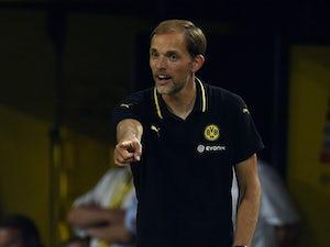 Dortmund's head coach Thomas Tuchel reacts during the UEFA Europa League third qualifying round second leg football match between Borussia Dortmund and Wolfsberger AC on August 6, 2015