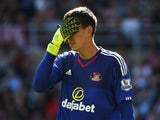 Costel Pantilimon is having a mare in Sunderland's game against Norwich on August 15, 2015