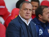 Dick Advocaat watches his Sunderland side take on Norwich on August 15, 2015