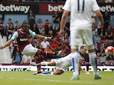 Dimitri Payet scores West Ham's first against Leicester on August 15, 2015