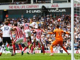 Eric Dier scores Tottenham Hotspur's first against Stoke on August 15, 2015